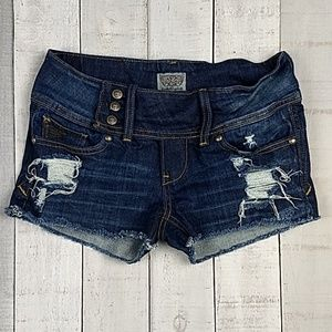 Rerock For Express distressed cutoff shorts